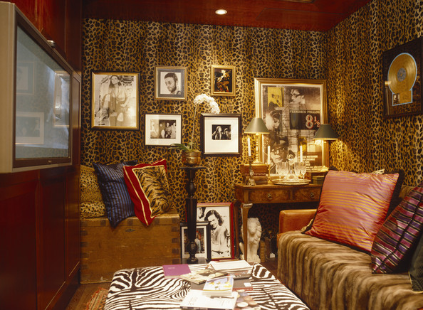 leopard print living room decorate your online yellow eclectic design ideas lonny