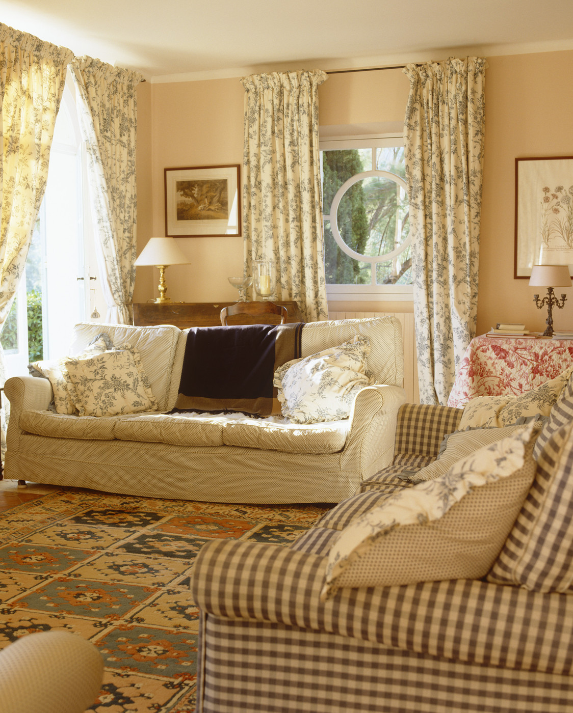 country plaid sofa sets cambridge collection emily broyhill thesofa