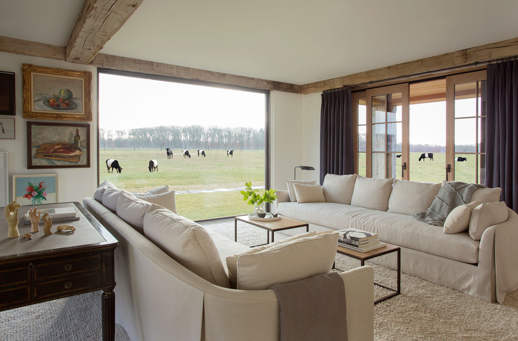 how to decorate my living room rustic small arrangements a modern farmhouse on martha s vineyard home tour lonny designed by kathleen walsh the palette for this was kept neutral