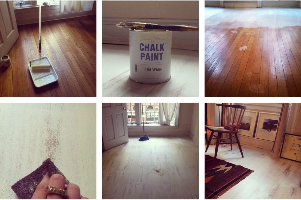 An Easy Way To Whitewash Your Hardwood Floors Do It Yourself Projects Lonny