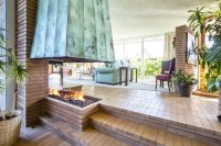 Central Fireplace - Mandy Moore's New Home Is A Mid ...