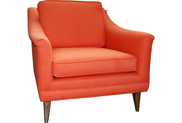 Vintage Orange Lounge Chair  Aerin Lauders One Kings