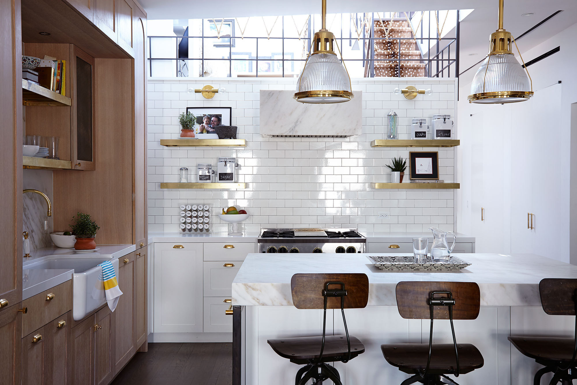 kitchen walls gift baskets say goodbye to your backsplash tiled are trending the sunken of a tribeca home by jenny vorhoff