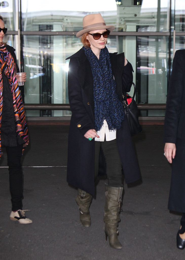 Jessica Chastain Knee High Boots  Jessica Chastain Looks  StyleBistro