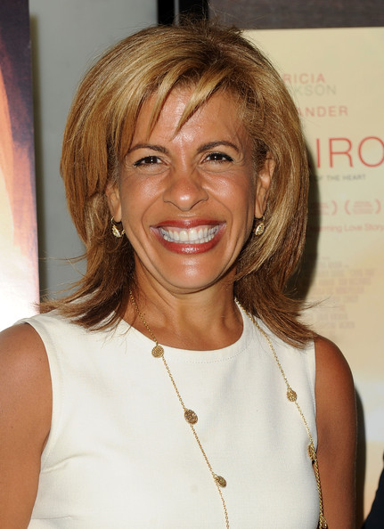 Hoda Kotb Medium Straight Cut With Bangs Shoulder Length