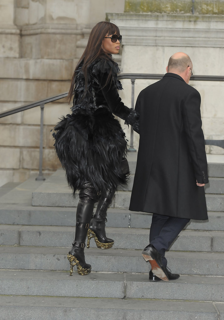 Naomi Campbell Over the Knee Boots  Naomi Campbell Shoes Looks  StyleBistro