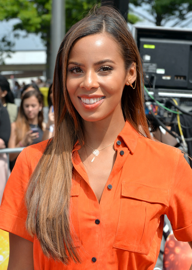 Rochelle Humes Long Straight Cut  Long Hairstyles Lookbook  StyleBistro