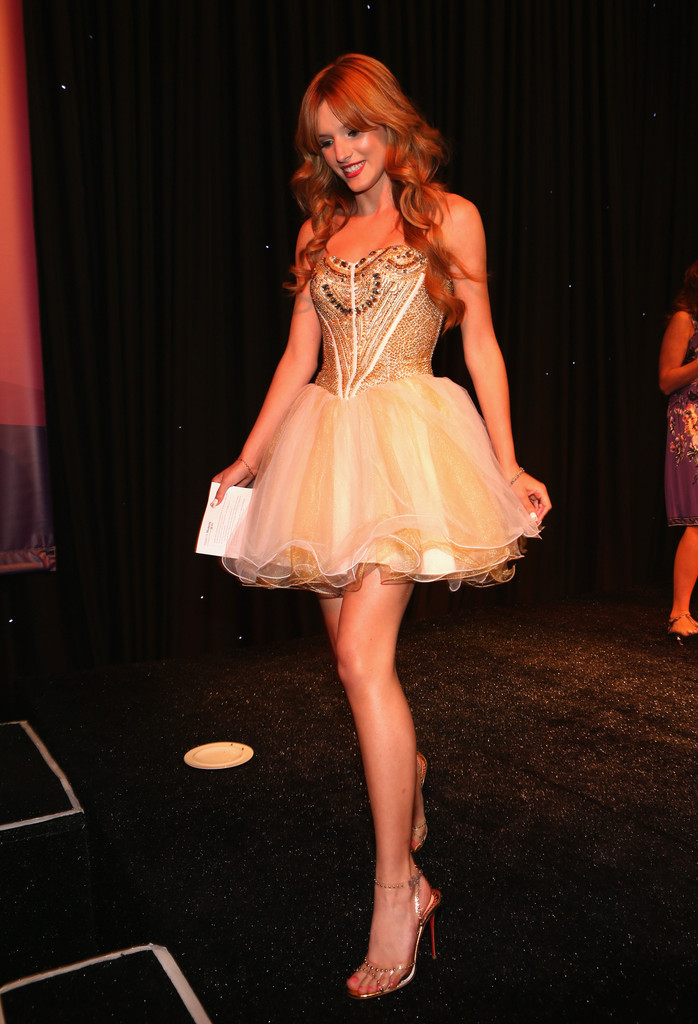 More Pics of Bella Thorne Strapless Dress 26 of 80