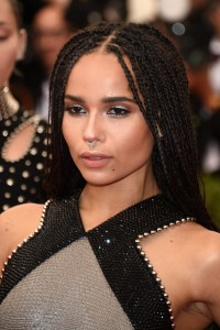Zoe Kravitz Long Braided Hairstyle - Zoe Kravitz Hair ...