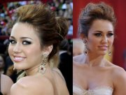 miley cyrus - perfect prom updos