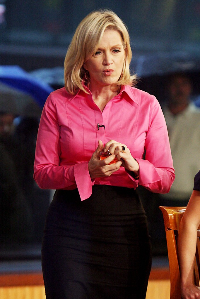 Diane Sawyer Button Down Shirt  Diane Sawyer Looks  StyleBistro
