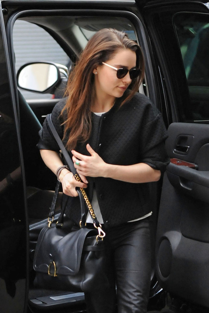 More Pics of Emilia Clarke Leather Tote 10 of 16