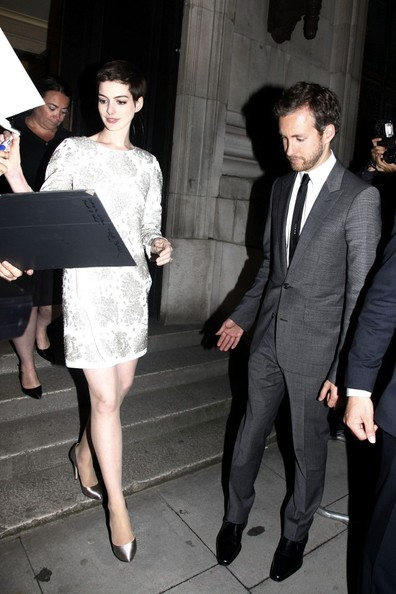 Anne Hathaway - Stars at 'The Dark Knight Rises' after party