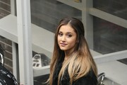 Singer Ariana Grande is pictured arriving at the ITV studios for a guest appearance on the 'Alan Carr: Chatty Man' Show.