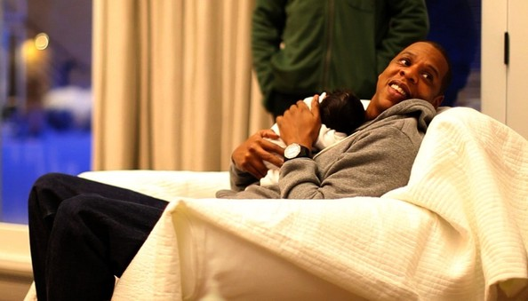Jay-Z Beyoncé and Jay-Z post pictures of their baby Blue Ivy Carter on their tumblr blog.