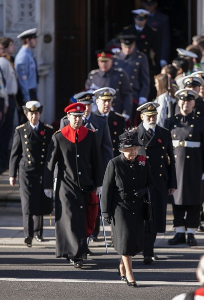 11th November 2012.  The Remembrance service at The Cenotaph in London today.Here, HRH Queen Elizabeth.