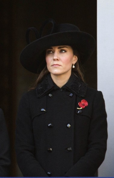 11th November 2012.  The Remembrance service at The Cenotaph in London today.Here, Kate, Duchess of Cambridge.