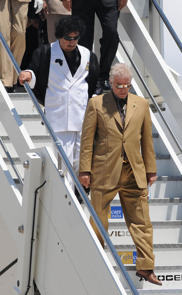 Muammar al-Gaddafi - World Leaders Arriving In Rome For G8