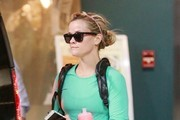 """Wild"" star Reese Witherspoon leaves the gym after a morning workout on February 20, 2015 in Santa Monica, California. Reese must be trying to get in the best possible shape before squeezing into her Oscars dress this Sunday!"