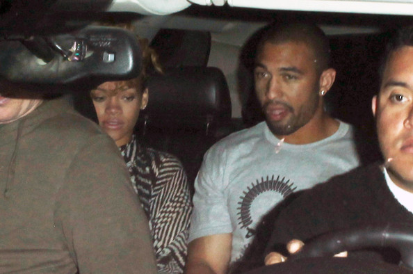 Singer Rihanna and new boyfriend Matt Kemp (Los Angeles Dodgers outfielder) leave El Squid Roe together in Cabo San Lucas.