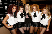 Recording artist Meghan Trainor (C) and her dancers attend the 2014 iHeartRadio Music Festival at the MGM Grand Garden Arena on September 20, 2014 in Las Vegas, Nevada.