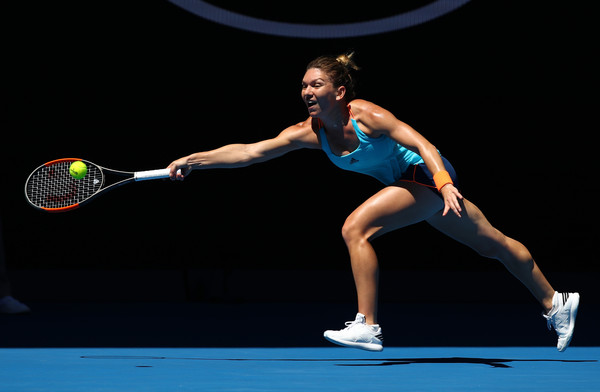 Simona Halep spent his short time on court chasing the ball and naturally didn't last long in Melbourne