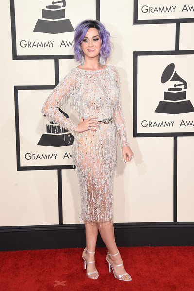 Singer Katy Perry attends The 57th Annual GRAMMY Awards at the STAPLES Center on February 8, 2015 in Los Angeles, California.