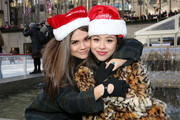 """Actresses Maia Mitchell and Cierra Ramirez attend ABC's """"25 Days Of Christmas"""" Celebration at Cucina at Rockerfellar Center on December 7, 2014 in New York City."""
