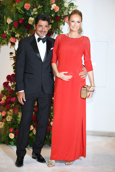 Adriana Karembeu and Aram Ohanian Photos Photos - 70th Monaco Red