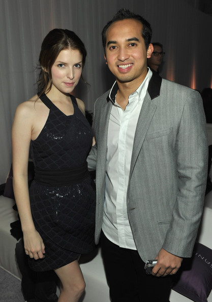 """Anna Kendrick IN ADD MINUS? Nasarudin """"Nasa"""" Nasimuddin and actress Anna Kendrick (wearing IN ADD MINUS) attend the IN ADD MINUS flagship store launch on November 18, 2010 in Los Angeles, California."""