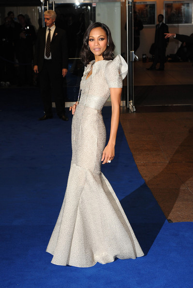 Zoe Saldana Zoe Saldana attends the World Premiere of Avatar at Odeon Leicester Square on December 10, 2009 in London, England.