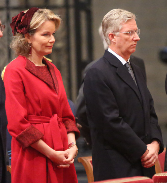 Princess Mathilde and Prince Philippe of Belgium attend the Te Deum on King's Day at Cathedrale des Saints-Michel-et-Gudule on November 15, 2012 in Brussels, Belgium.
