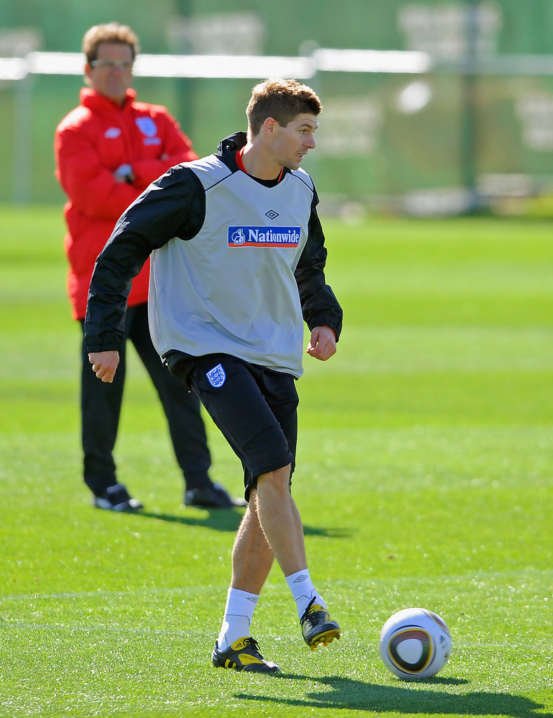 Steven Gerrard In England Training & Press Conference Zimbio