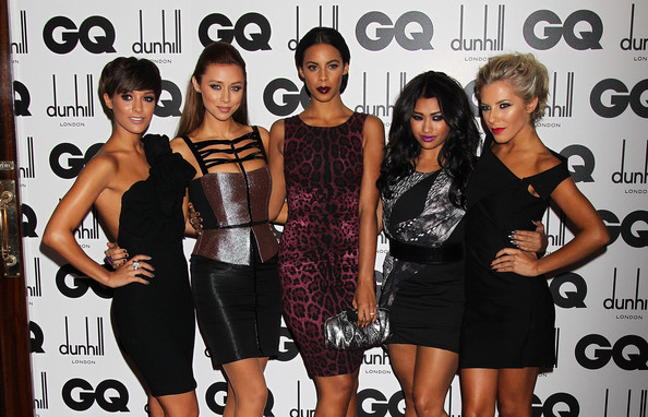 (L-R) Frankie Sandford, Una Healy, Rochelle Wiseman, Vanessa White and Mollie King of The Saturdays attend the GQ Men Of The Year Awards at The Royal Opera House on September 6, 2011 in London, England.
