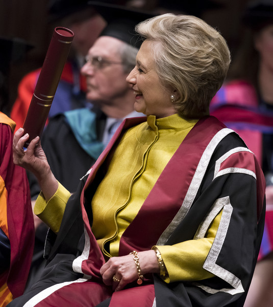 Hillary Clinton Receives An Honorary Doctorate From Swansea University