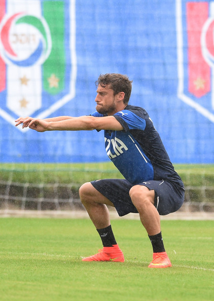 Claudio Marchisio of Italy during a training session on June 10, 2014 in Rio de Janeiro, Brazil.