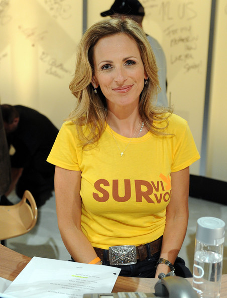Marlee Matlin In this handout photo provided by Getty Images, actress Marlee Matlin poses during Stand Up To Cancer at Sony Pictures Studios on September 10, 2010 in Culver City, California.