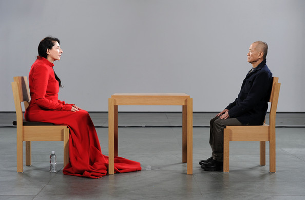 Resultado de imagem para Marina Abramovic during 'The Artist is Present' exhibition at MOMA, 9 March 2010 in New York. Photo by Andrew H. Walker/Getty Images