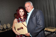 Actress Jillian Rose Reed (L) and Founder and CEO of Brownies Doug Byrd attend the Pilot Pen and GBK Luxury Lounge honoring Golden Globe nominees and presenters held at the W Hollywood on January 10, 2015 in Hollywood, California.