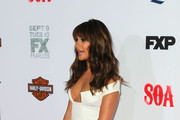 """Actress Lea Michele attends the premiere screening of FX's """"Sons Of Anarchy"""" at TCL Chinese Theatre on September 6, 2014 in Hollywood, California."""