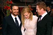 (L-R) Actor James Franco, actress Nicole Kidman and actor Damian Lewis attend the 'Queen of the Desert' premiere during the 65th Berlinale International Film Festival at Berlinale Palace on February 6, 2015 in Berlin, Germany.