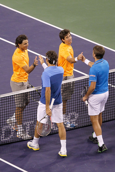 Roger Federer and Rafael Nadal - BNP Paribas Open