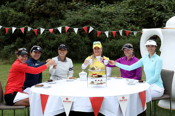 with Brittany Lang, Mika Miyazato, Charley Hull, Brooke Henderson and Michelle Wie