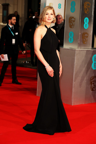 Rosamund Pike Actress Rosamund Pike attends the EE British Academy Film Awards at The Royal Opera House on February 8, 2015 in London, England.