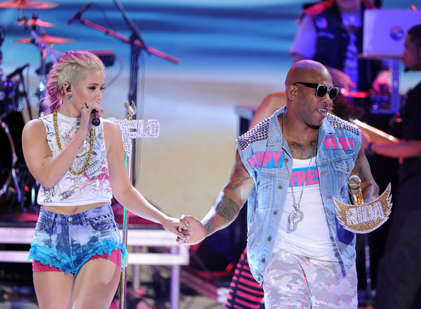 Rapper Flo Rida performs onstage during the 2012 Teen Choice Awards at Gibson Amphitheatre on July 22, 2012 in Universal City, California.