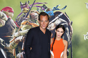 "Will Arnett and  Megan Fox arrive at the Sydney Premiere of ""Teenage Mutant Ninja Turtles"" at The Entertainment Quarter on September 7, 2014 in Sydney, Australia."