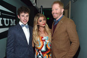 (L-R) Actors Sarah Hyland, Nolan Gould and Jesse Tyler Ferguson attend 'TrevorLIVE LA' Honoring Robert Greenblatt, Yahoo and Skylar Kergil for The Trevor Project presented by Wells Fargo at Hollywood Palladium on December 7, 2014 in Los Angeles, California.