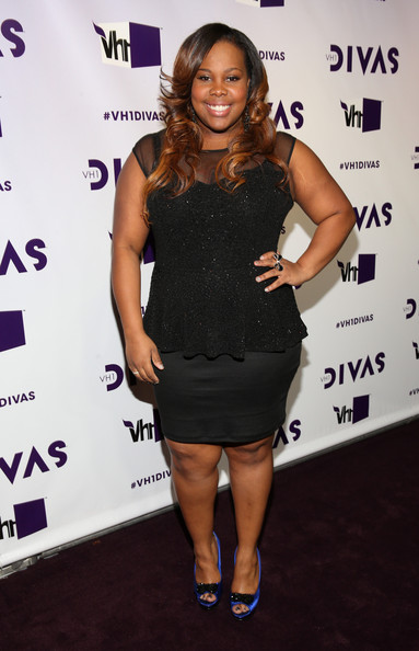 """Actress Amber Riley attends """"VH1 Divas"""" 2012 at The Shrine Auditorium on December 16, 2012 in Los Angeles, California."""