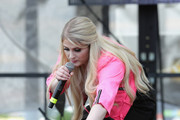 Singer/songwriter Meghan Trainor performs at Y100's Jingle Ball Village, Y100's Jingle Ball 2014 official pre-show at BB&T Center on December 21, 2014 in Miami, FL.