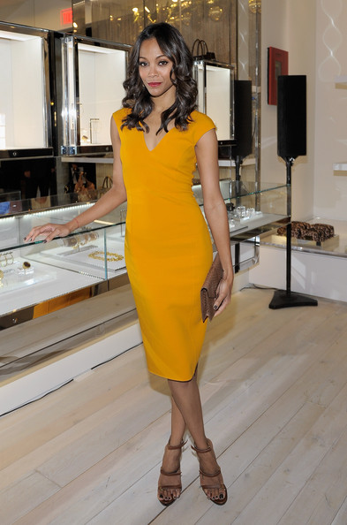 Zoe Saldana Actress Zoe Saldana attends the opening of the new Michael Kors boutique on Robertson with an evening hosted by Petra Flannery benefitting St. Jude Children's Research Hospital at Michael Kors on Robertson on November 16, 2011 in Los Angeles, California.